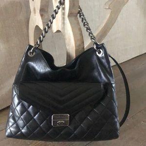 Chanel large hobo crossbody bag
